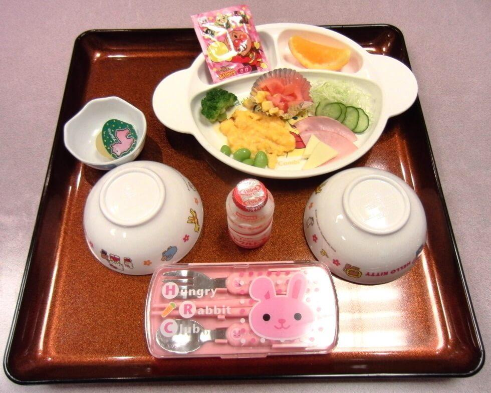 お子様用の朝食(例)